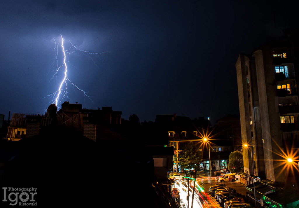 thunderstorm in tetovo